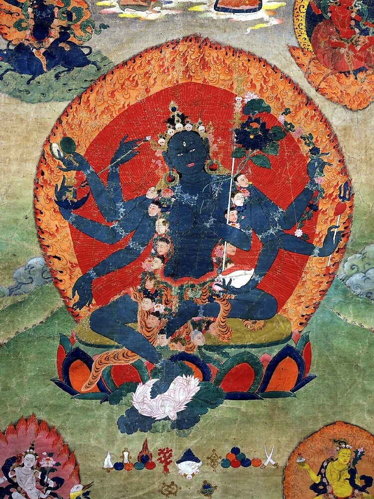 Green Tara Tibetan Buddhist Religious Art by TammyWinandArt