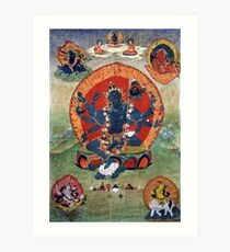 Green Tara Tibetan Buddhist Religious Art Art Print