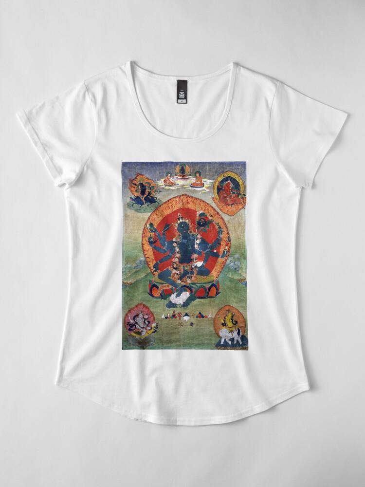 Alternate view of Green Tara Tibetan Buddhist Religious Art Premium Scoop T-Shirt
