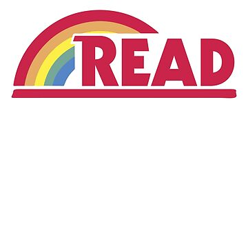 Retro Reading Rainbow Read Parody Teacher, Student, Avid Reader, Book Club, Reading, Graphic by DesIndie