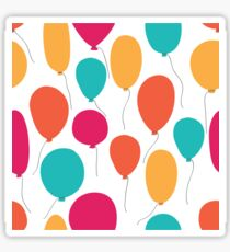 Party balloons pattern. Sticker