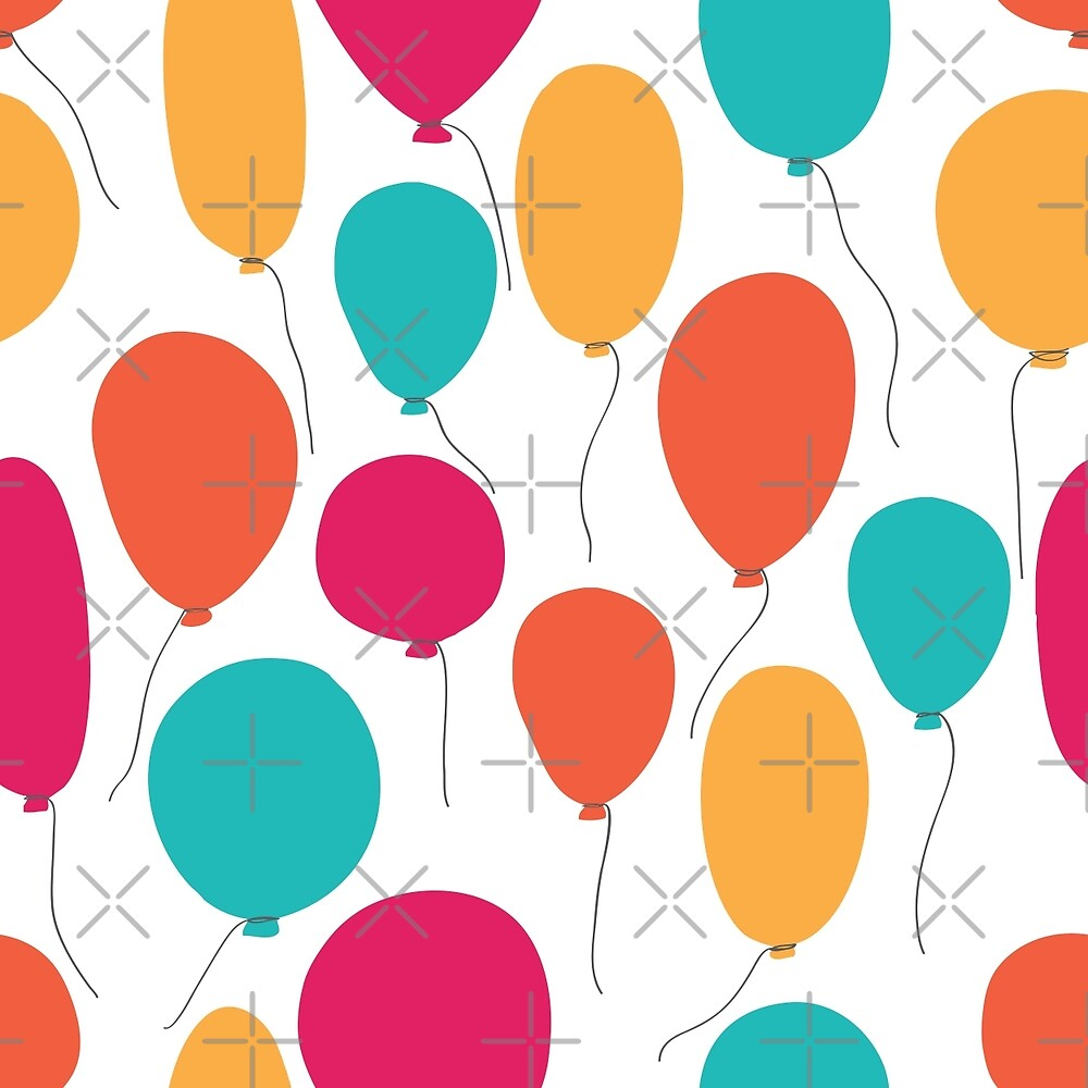 Quot party balloons pattern quot by epine redbubble