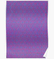 Silicon  Atoms Purple Blue Poster