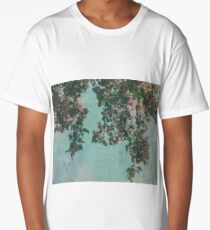 Textured Crabapple Blossom Overhang Long T-Shirt