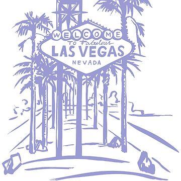 Las Vegas Strip Famous Sign Vintage Souvenir by peter2art
