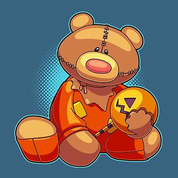 Horror Teddy Bear 4 by artdyslexia
