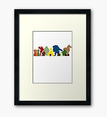 Beauty and the Beast Crew Framed Print