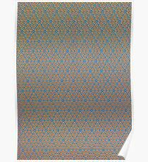 Silicon Atoms Orange Blue Poster