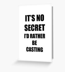 Casting Sport Fan Lover Funny Gift Idea Greeting Card