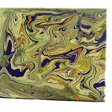 'Melting' Abstract Acrylic on Canvas by JenBoyte