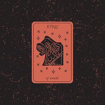Tarot Card - King Of Wands by SydneyKoffler