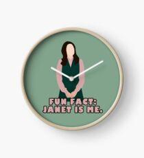 lustige Tatsache: Janet ist ich Uhr