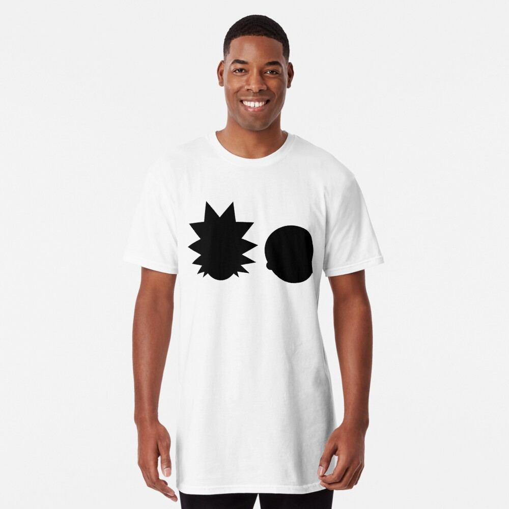 Rick and Morty - Simple Design! - Black Long T-Shirt