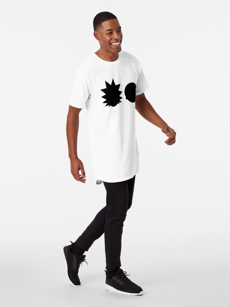 Alternate view of Rick and Morty - Simple Design! - Black Long T-Shirt
