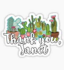thank you, janet Sticker
