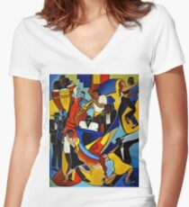 Colores Salsa Women's Fitted V-Neck T-Shirt