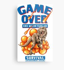 Game Over - Since Million Years Ago Metal Print