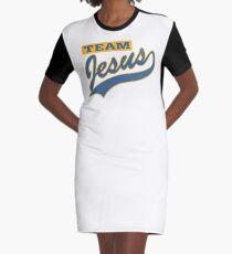 "Christian ""Team Jesus"" Graphic T-Shirt Dress"