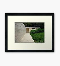 German Pavilion by Ludwig Mies van der Rohe, Barcelona, Spain  Framed Print
