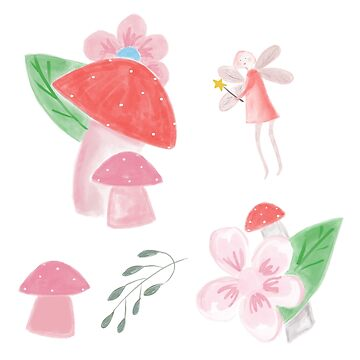 Flower Fairy and Forest Toadstools by podartist