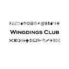 Wingdings Club Symbols for Computer Geeks Light-Monotone by TinyStarAmerica