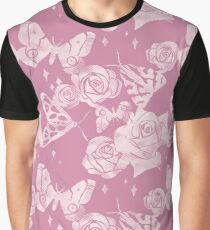 Moths and Roses Graphic T-Shirt