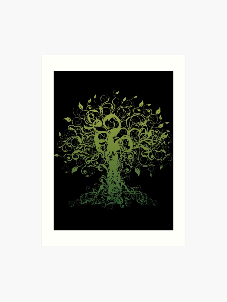 graphic regarding Bikram Yoga Poses Chart Printable called Meditate, Meditation, Religious Tree Yoga Artwork Print