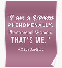 Phenomenal Woman- Maya Angelou Poster
