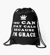 YOU CAN STAY CALM BECAUSE I'M GRACE ASEXUAL T-SHIRT Drawstring Bag
