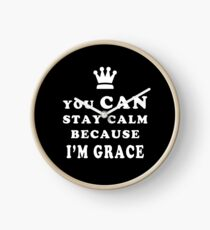YOU CAN STAY CALM BECAUSE I'M GRACE ASEXUAL T-SHIRT Clock