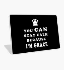 YOU CAN STAY CALM BECAUSE I'M GRACE ASEXUAL T-SHIRT Laptop Skin