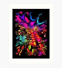 Fractal Splash Art Print
