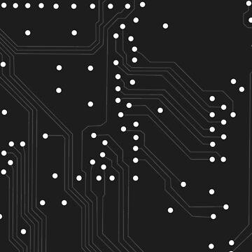 Circuits - black by hmoonindustries