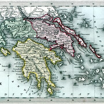 1835 Map of Greece by historicimage