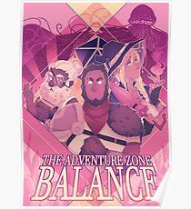 TAZ Balance Character Print Poster