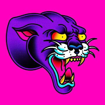 Toned Panther Head by salty-dog
