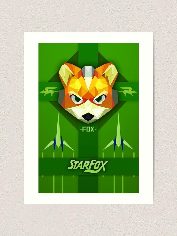 Star Fox Fox Mccloud Propaganda Style Print Art Print