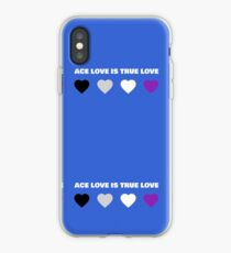ASEXUAL HEARTS ACE LOVE IS TRUE LOVE ASEXUAL T-SHIRT iPhone Case