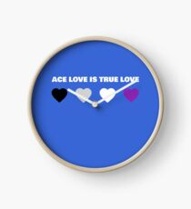 ASEXUAL HEARTS ACE LOVE IS TRUE LOVE ASEXUAL T-SHIRT Clock