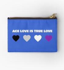 ASEXUAL HEARTS ACE LOVE IS TRUE LOVE ASEXUAL T-SHIRT Studio Pouch