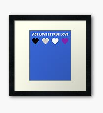 ASEXUAL HEARTS ACE LOVE IS TRUE LOVE ASEXUAL T-SHIRT Framed Print