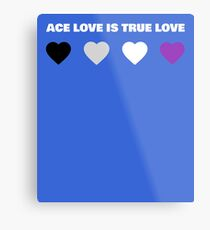 ASEXUAL HEARTS ACE LOVE IS TRUE LOVE ASEXUAL T-SHIRT Metal Print
