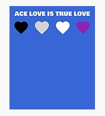 ASEXUAL HEARTS ACE LOVE IS TRUE LOVE ASEXUAL T-SHIRT Photographic Print