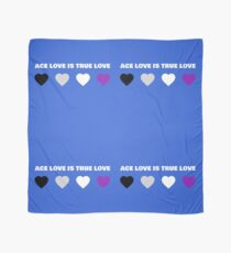 ASEXUAL HEARTS ACE LOVE IS TRUE LOVE ASEXUAL T-SHIRT Scarf