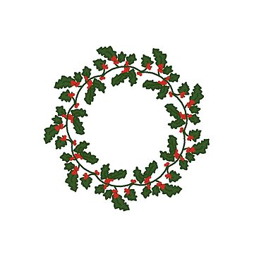 Holly wreath by tmntphan