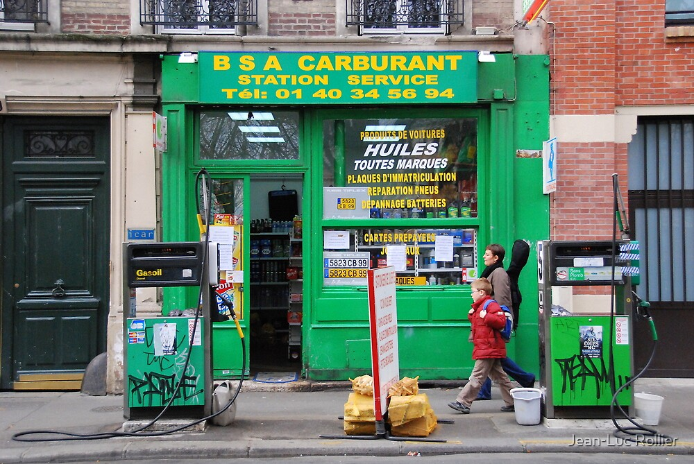 Paris - Gas Station. by Jean-Luc Rollier
