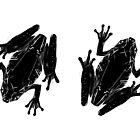 Pagan Animals - Black Frog / Toad by Nishita Wojnar