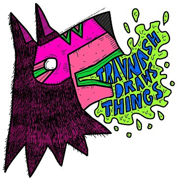 Official Trav Nash Draws Things Sticker by Travnash
