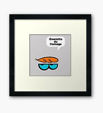 Omelette du fromage Framed Print