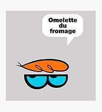 Omelette du fromage Photographic Print